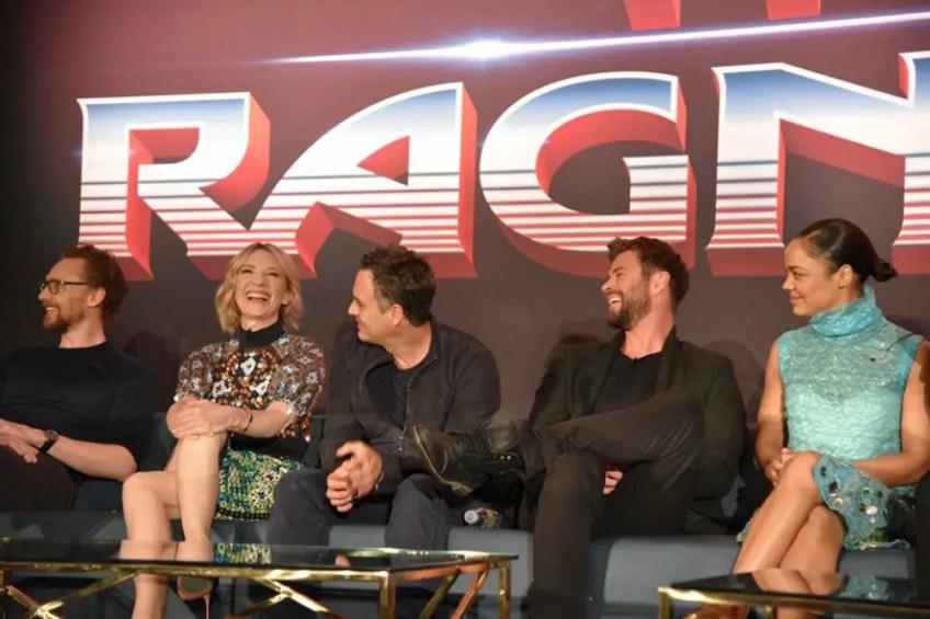 Thor: Ragnarok press conference, LA images