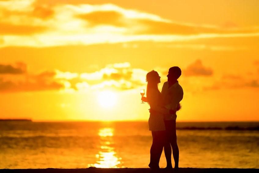 beach, romance, couple