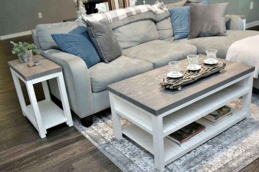Farmhouse living room, budget friendly farmhouse decor, handmade furniture