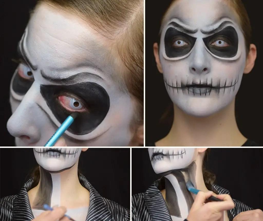 The Nightmare Before Christmas Jack Skellington Makeup DIY