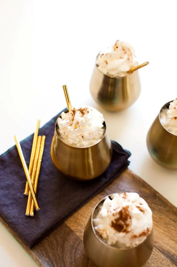 holiday cocktail ideas Sparkling Pumpkin Pie