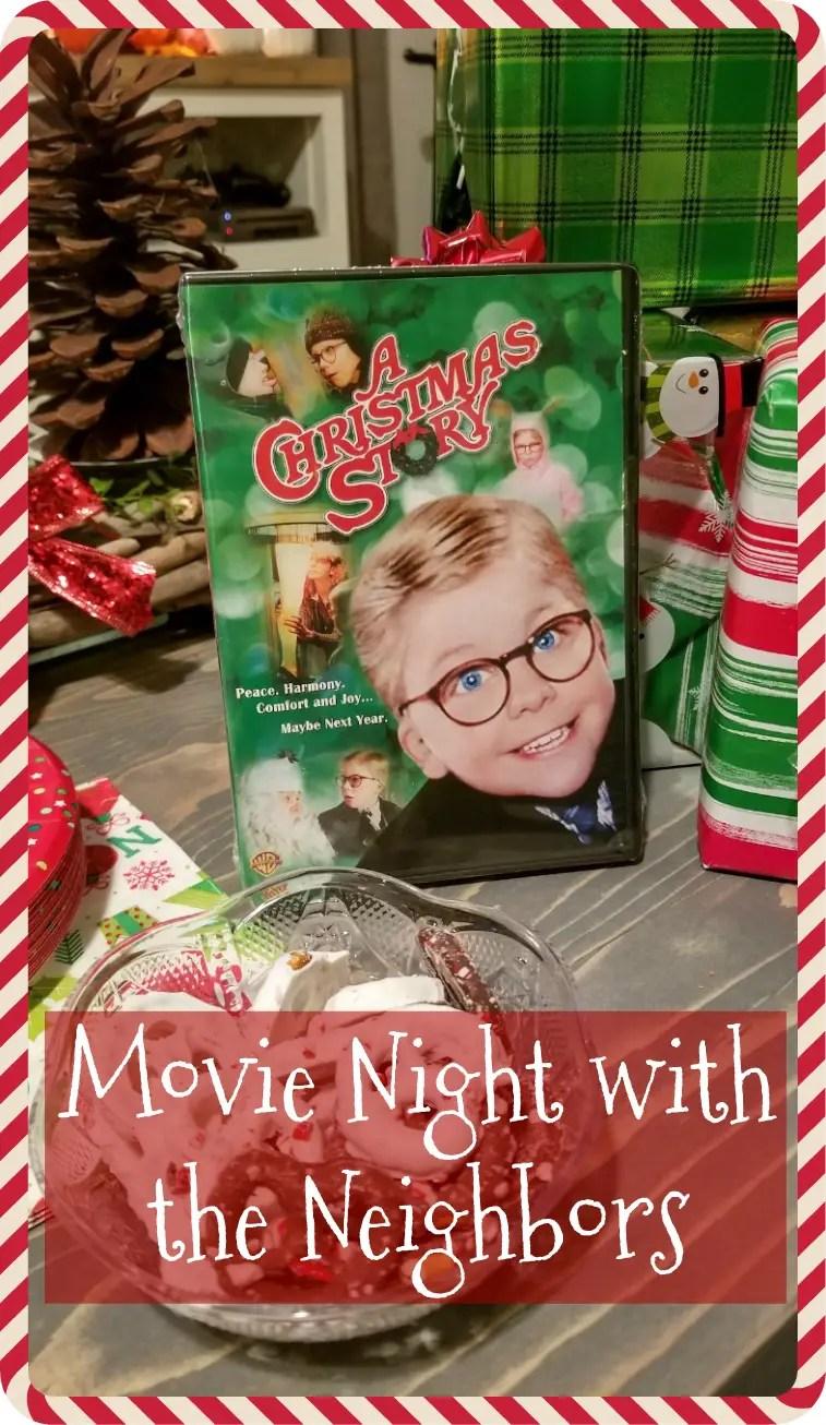 movie night with the neighbors