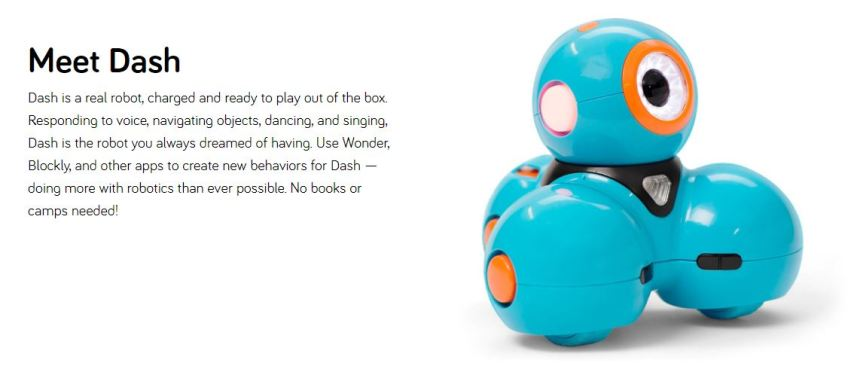 tween gifts, dash robot