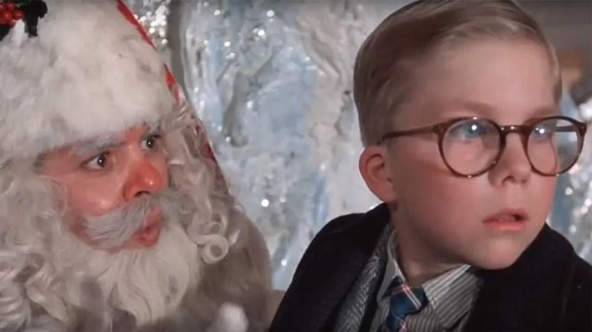 A Christmas Story Ralphie and Santa