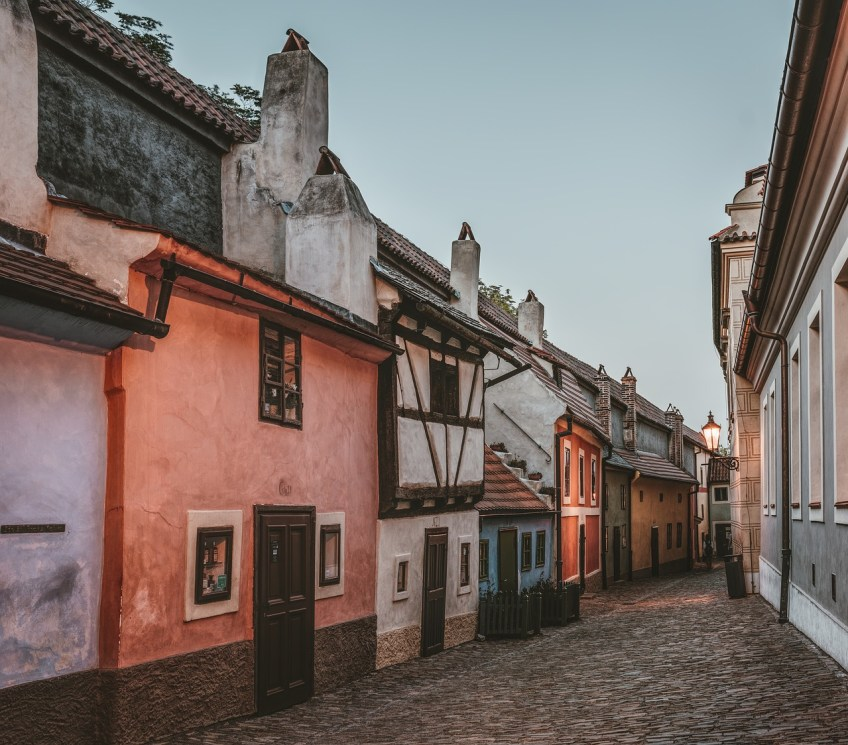 golden-lane, medieval towns in Europe