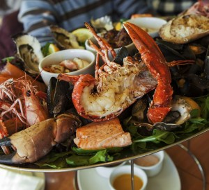 Things to Do in Padstow, Prawn dish