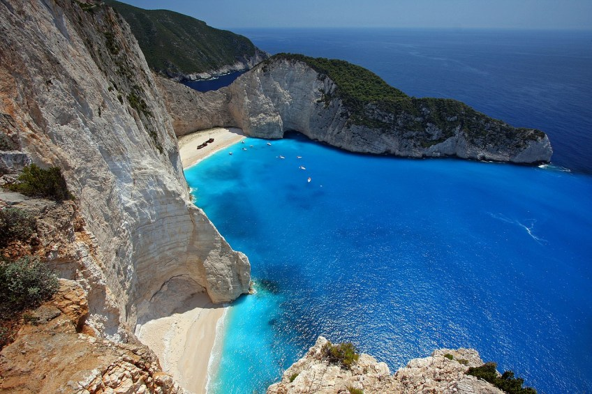 budget friendly beach vacations, Navagio Beach, Greece