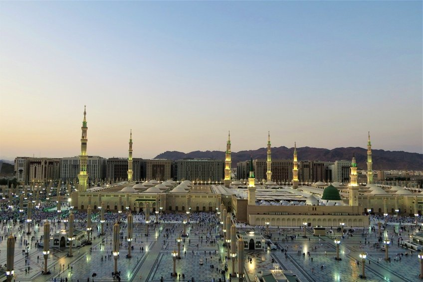 Medina Mosque, Traveling to Saudi Arabia