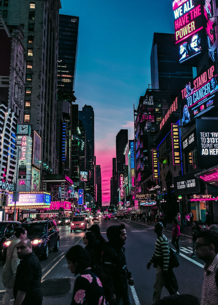 NYC city break ideas, times square