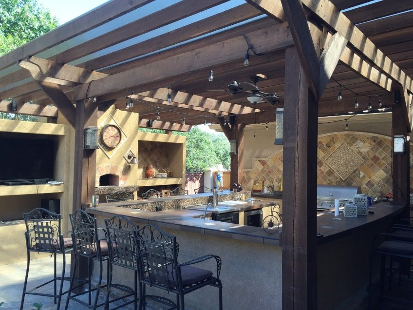 time outdoors, outdoor kitchen