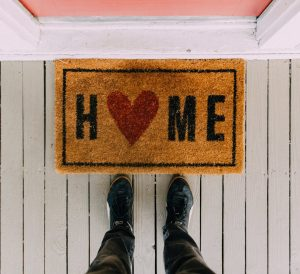things to do when you can't travel, doormat home