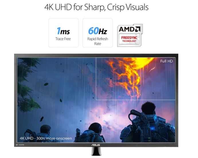 """4K monitor like the Asus VP28UQG 28"""", PC gaming monitor"""