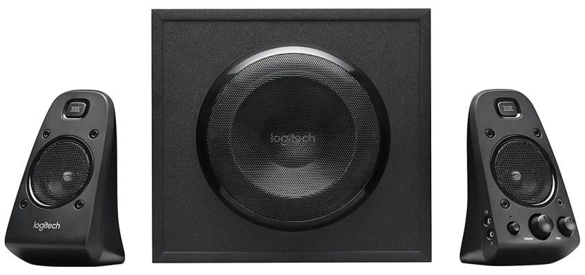 PC speakers, device speakers, PC speakers, device speakers,2.1 audio system like Logitech Z623 400 Watt Home Speaker System