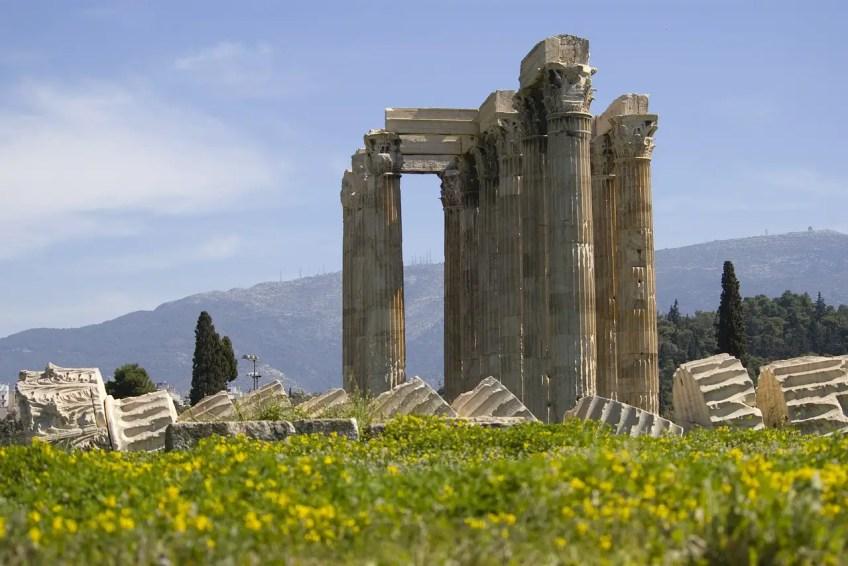 Greek Ruins, Athens, columns