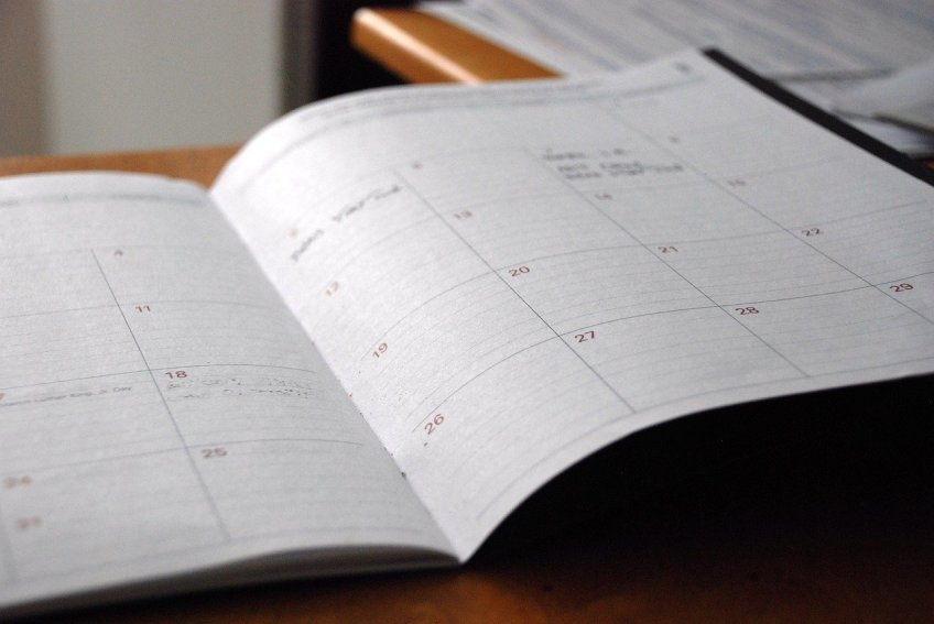 calendar, planner, plan ahead, be spontaneous