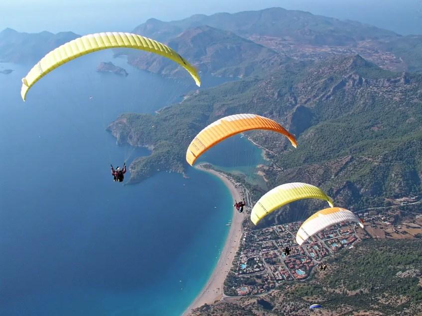 adventure sports, paragliding, parachute