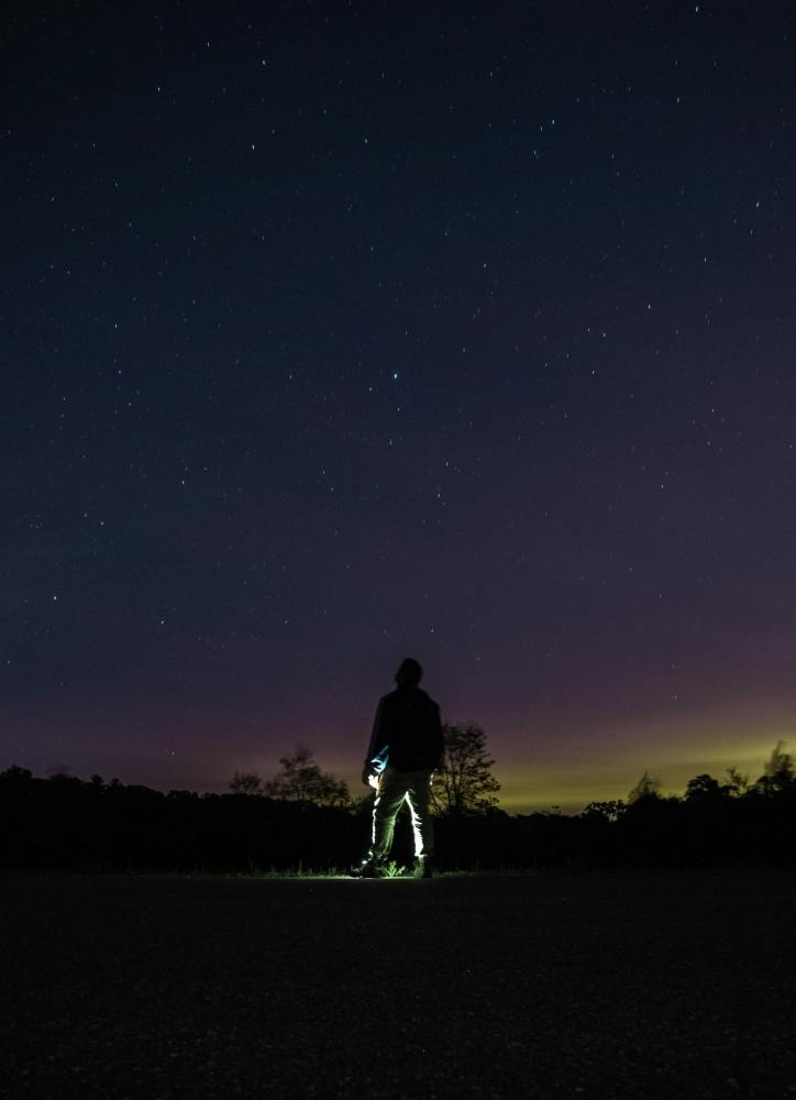 wilderness hikes, hiking at night, flashlight