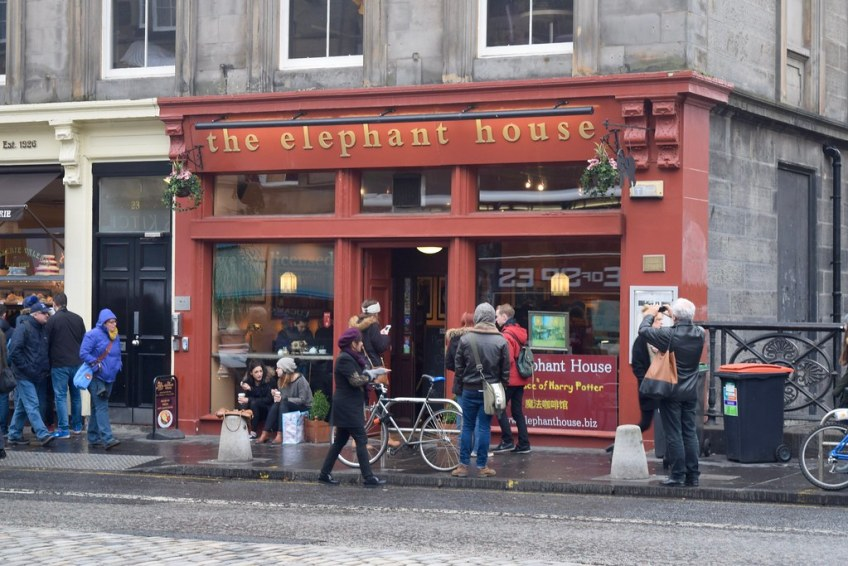 harry potter places, the elephant house cafe