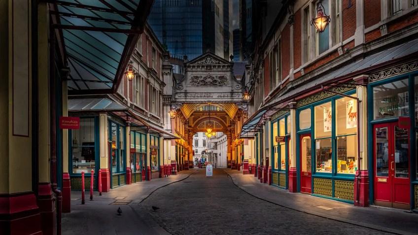 harry potter places, leadenhall market, london, england