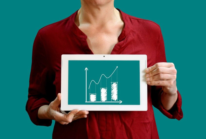 benefits of electronic signatures, chart, graph, table, tablet, growth, increase