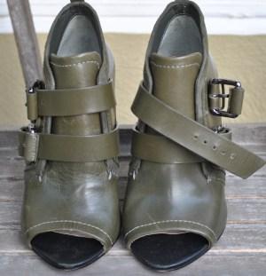 vintage handbag and shoe green 041