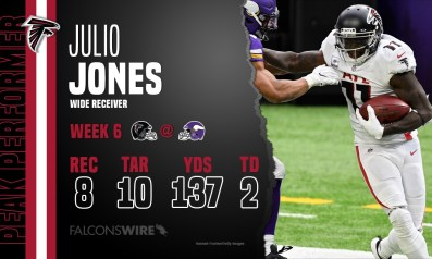 Julio Jones dominates for the Falcons in Week 6
