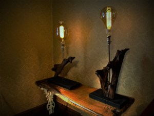 Driftwood Lamps with Edison Bulbs