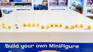 LEGO Build A Minifigure Bar - Heads (Backside) - November 2015