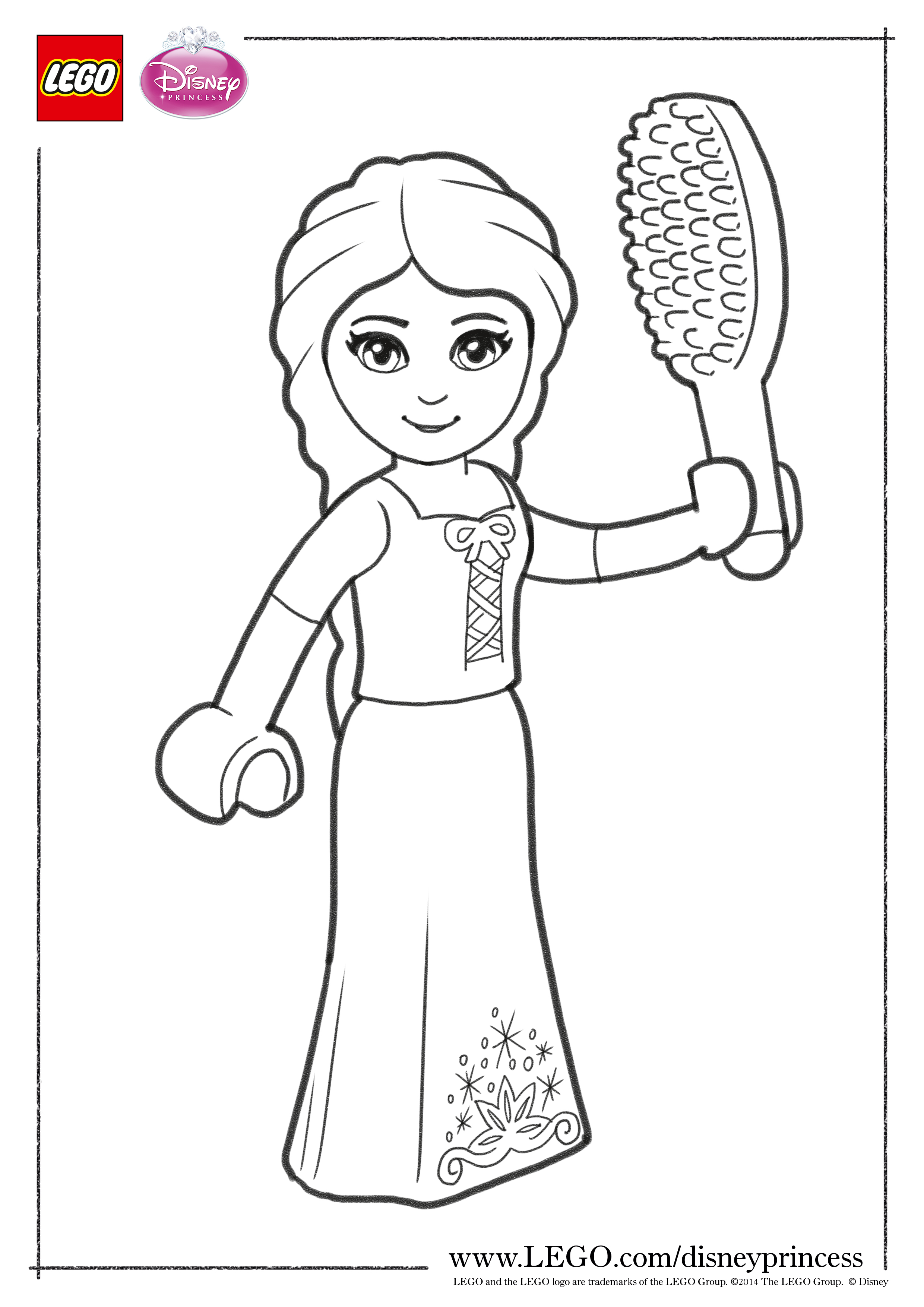 Lego Disney Princess Coloring Pages The Family Brick