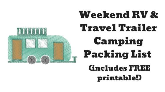 picture regarding Rv Packing List Printable named Weekend Getaway RV and Generate Trailer Tenting Packing Listing