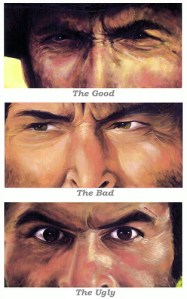 The Good, The Bad, and they Ugly by AJC1 at Flickr.