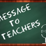 Message to Teachers