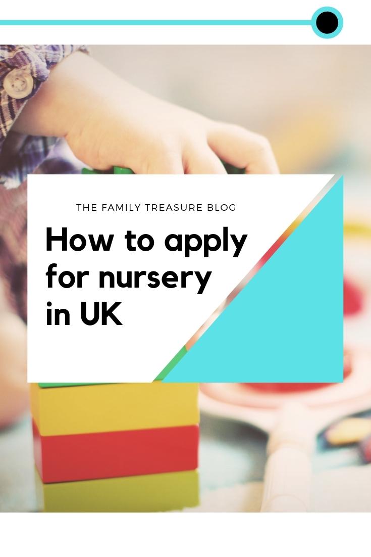 how to apply nursery UK