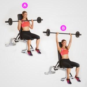 barbell shoulder press