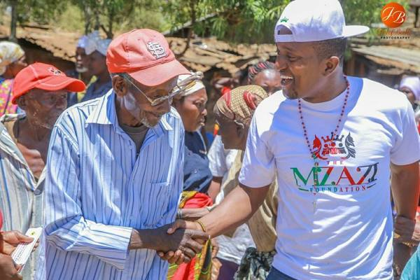 Celebrated Radio Personality Mzazi Willy M Tuva giving out ...