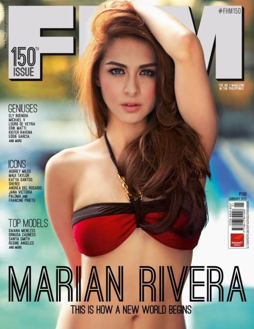 Marian Rivera FHM January 2013 cover-739156