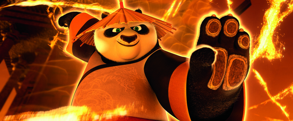 PO voiced by Jack Black in KUNG FU PANDA 3