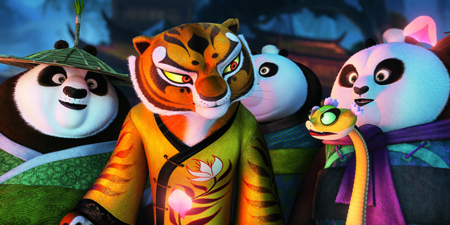 Tigress and Viper in KUNG FU PANDA 3