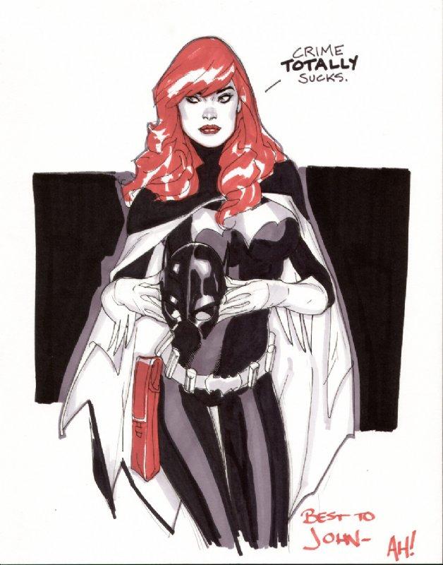 Gordon as Batgirl