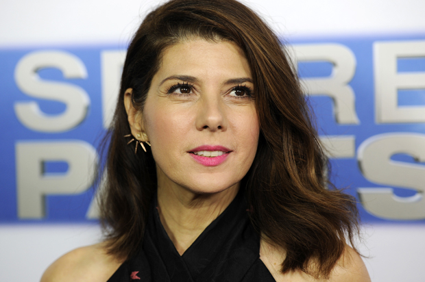 "Marisa Tomei, a cast member in ""Spare Parts,"" poses at the premiere of the film at Arclight Cinemas on Thursday, Jan. 8, 2015, in Los Angeles. (Photo by Chris Pizzello/Invision/AP)"