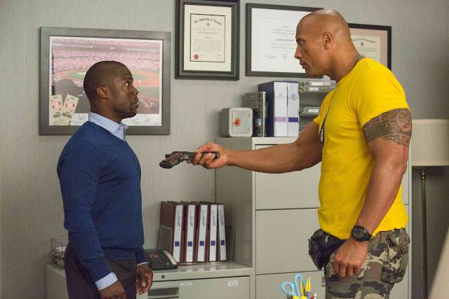 Kevin Hart and Dwayne Johnson in Central Intelligence