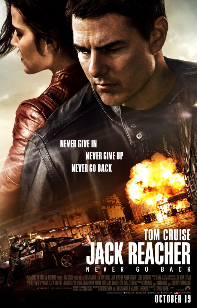 Jack Reacher Never go back international poster