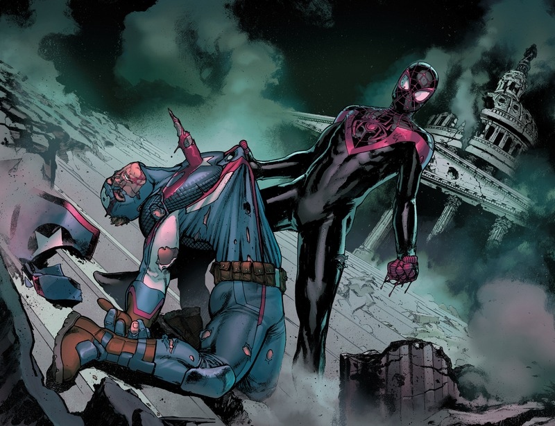 Spider-Man Miles Morales kills Captain America Steve Rogers