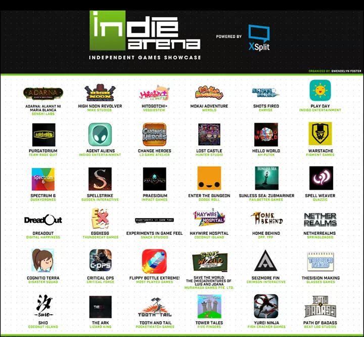 indie arena esgs 2016