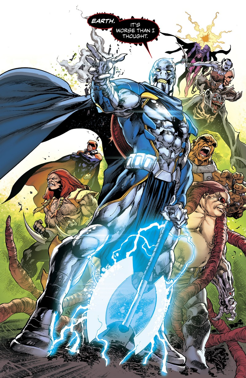 Lord Havoc and the Extremists in JLA # 1
