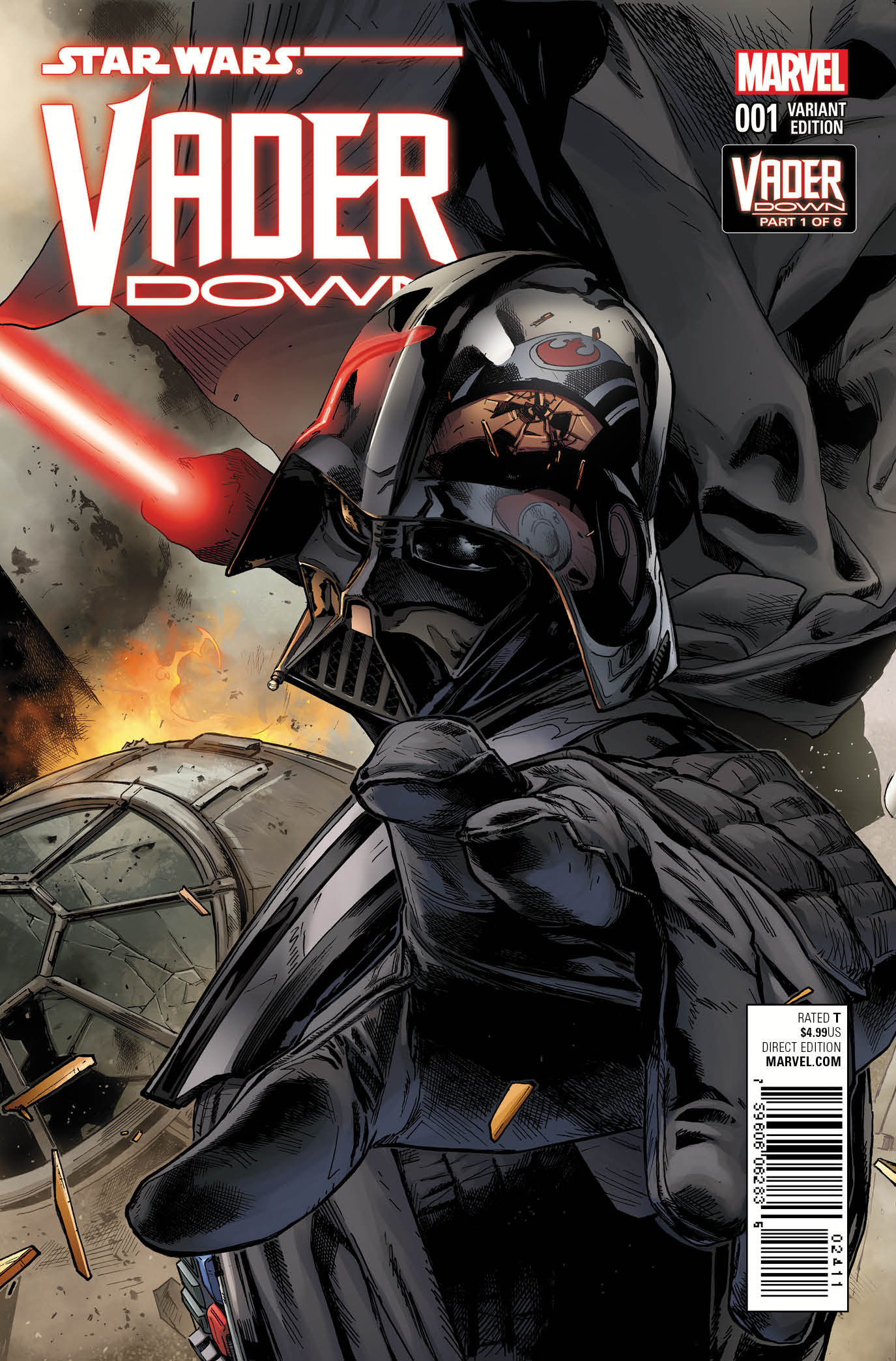 Star Wars Vader Down Clay Mann cover