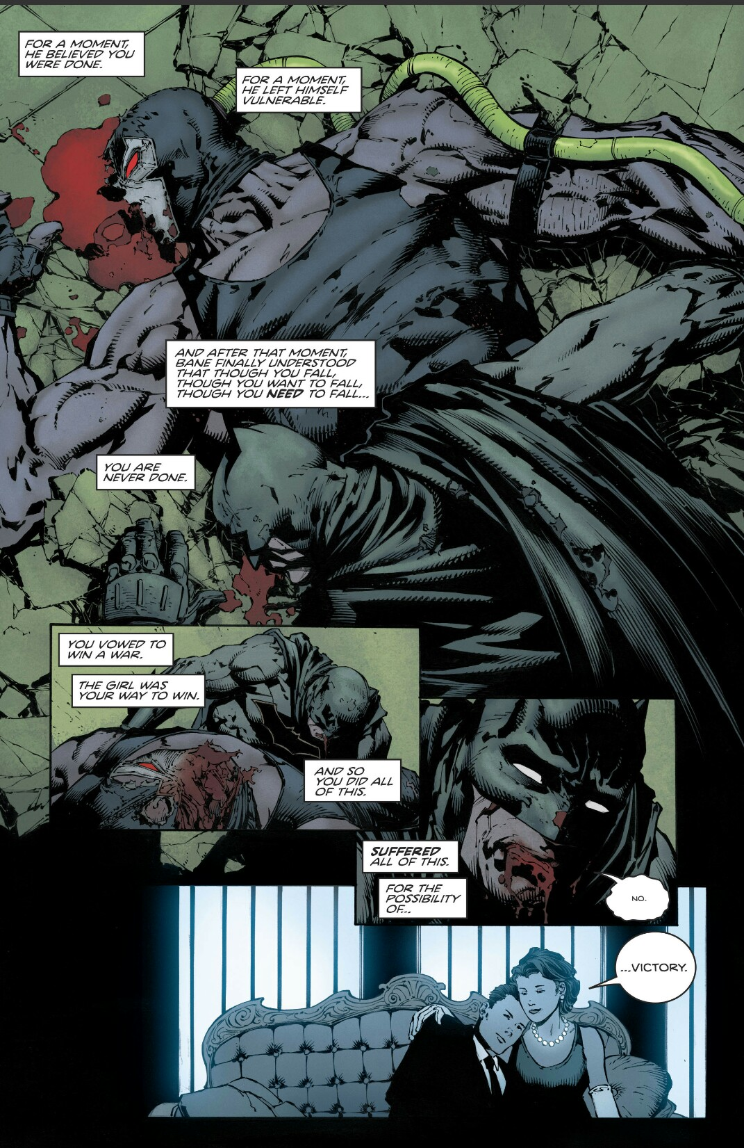 batman # 20 batman beats bane i am bane finale