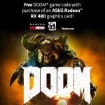 DOOM Remake Now Bundled with ASUS Radeon RX 480