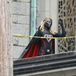 Evil Supergirl aka Overgirl seen on Supergirl Set