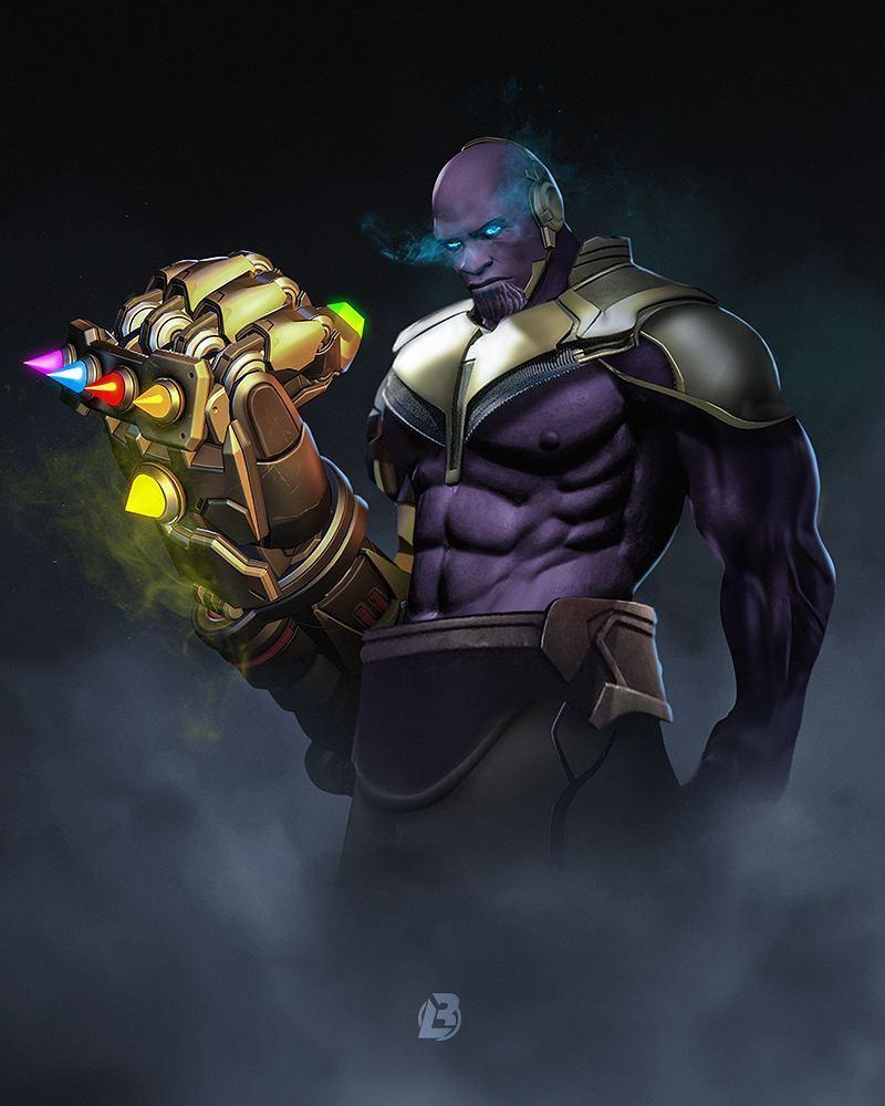 doomfist as Thanos